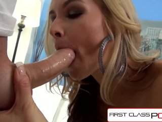 FirstClassPOV – Sarah Vandella sucking a big dick, big boobs & big booty