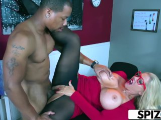 Spizoo – Karen Fisher is fucked by a Big Black Cock, big booty & big boobs