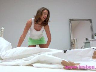 Lesbea Beautiful lesbian Euro babes pussy eating 69 to blinding orgasm