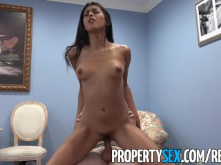 PropertySex – Hot Latina real estate agent thanks client with sex