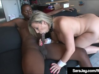 White On Black – Sara Jay Fucks A Huge Black Dick!