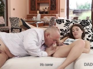 DADDY4K. Daddy stretches good-looking chick while son is not at home