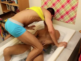 Wild jock Bobby Hart ass fucked after BJ and rimming