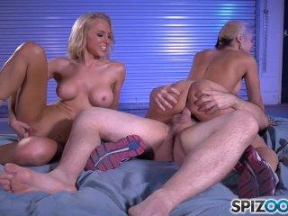 Spizoo – Sarah Vandella & Alix Lynx sharing a huge cock in hot threesome