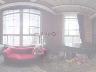 StasyQVR – 180 VR Porn Video – Boots 'n Blondes with MarbellaQ