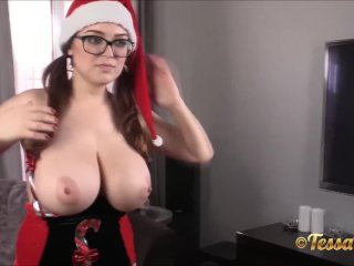A huge titties and a pinkish cherry present from Tessa Fowler