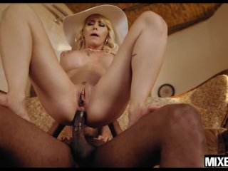 Bored milf Christina Shine gets fucked in the ass by big black cock