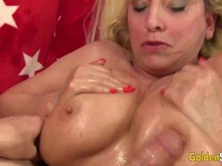 Busty Blonde Grandma Cala Craves Gets Drilled Hard