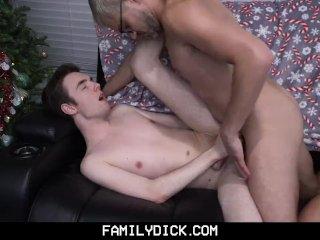 FamilyDick – Daddy fucks his darling boy on Christmas Eve
