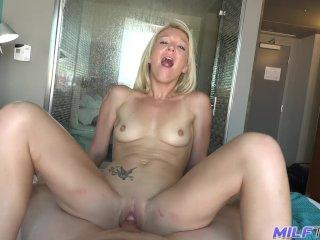 MILF Trip – Big cock pounds tight little blonde MILF – Part 2