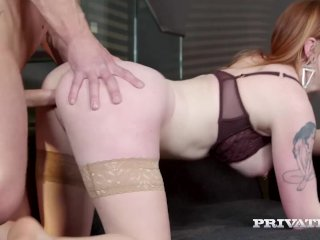 PrivateDOTcom – Gorgeous Redhead Carly Rae Fucks At Breakfast!