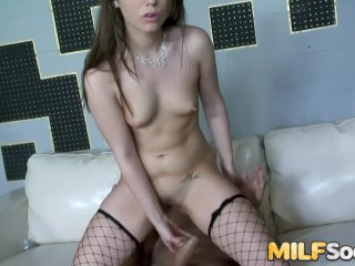 Sexy Brunette MILF Hannah West Prepares Her Asshole for Hardcore Drilling
