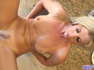 MILF Trip – Hot blonde MILF gets big cock and facial