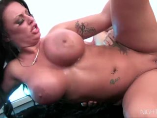 Kerry Louise gets her huge titties covered with goo