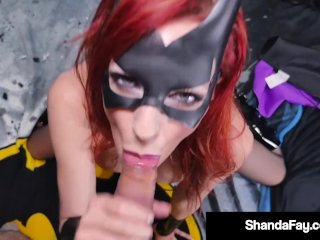 Cosplay Bat Babe Shanda Fay Is Ass Packed To Orgasm!