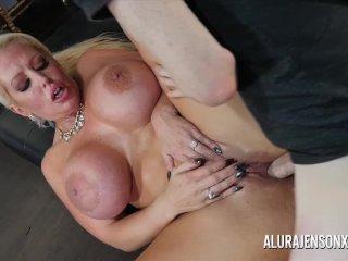 Big tit pornstar Alura Jenson fucks a hung stud