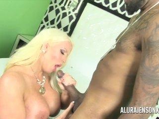 Big tit MILF Alura Jenson fucks her black Boober driver