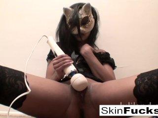 Very naughty pussy play with Sexy Skin Diamond