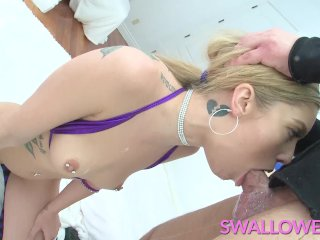 SWALLOWED Deepthroat challenge with Kali Roses