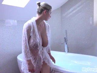 Big Tits Pregnant Katerina Hartlova  In The Bathtub