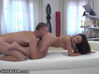 Rocco Siffredi Uses his Huge Cock 2 Please Natural Busty Romanian Sexpot