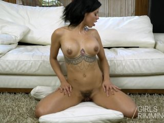 Anal Rimming Gangband with a Latina Beauty