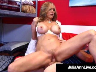 Sex Charged Teacher Julia Ann Bangs Her Hard Student!