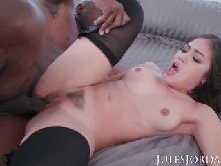 Jules Jordan – Prince goes deep into Kendra Spade's ASS with his Black Cock