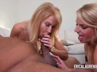 Erica Lauren and her stepdaughter share a BBC