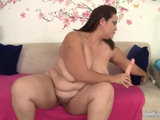 Fat Latina Mom Angelina Switches Between Dildo and Vibrator till Orgasm