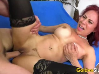 Older Claudia Fox Squirts Like a Perfect Slut After Draining Her BFs Balls