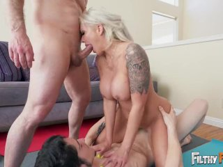 FILTHY FAMILY – My Busty Blonde Step Mom, Nina Elle, Is A Nudist