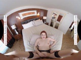 Naughty America – Redhead and big tits Bree Daniels Fucks you in VR
