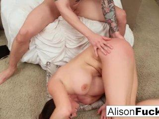 Busty Alison Tyler meets her Catfish then fucks his roommate