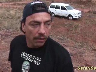 african milf outdoor fucked by safari tourist