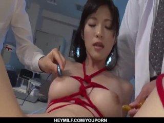 Sara Yurikawa goes crazy on toys in real XXX – More at Japanesemamas com