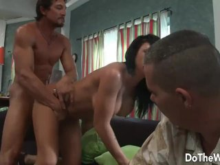 Cuckold Loses All Hope as He Watches Wife Mason Moore Fucking and Squirting