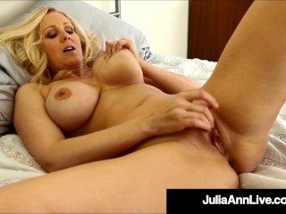 Adult Milf Icon Julia Ann Dildo Drills For A Loyal Fan!