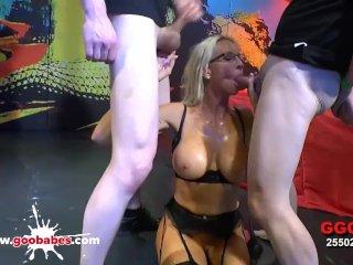 German Goo Girls – Mature Emma Starr hardcore bukkake gangbang