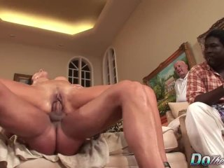 Sexy Wife Zoey Holloway Cuckolds Her Black Hubby with a Big White Dick