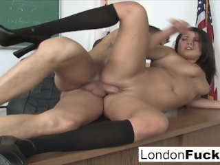 London Keyes has to stay after class
