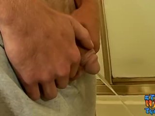 Young amateur Scottie Blaze strokes his cock solo and cums