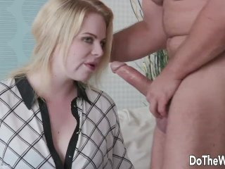 Cuckold Is Happy That Blonde Housewife Adry Berty Gets to Try a New Cock