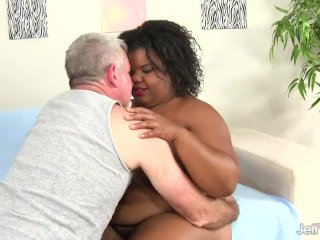Black Plumper Peaches Love Gets Her Tight Asshole Reamed with a White Dick