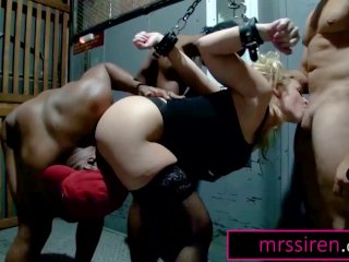 Wife Gangbanged by BBC in Dungeon