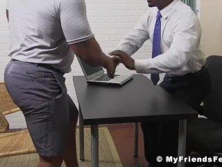 White dude needs a job so he licks black feet to get it here