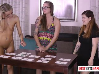 3 Gorgeous Girls Find out Who has the Best Memory, and Least Clothes