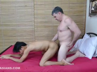 Daddy and Asian Twink Rave Bareback