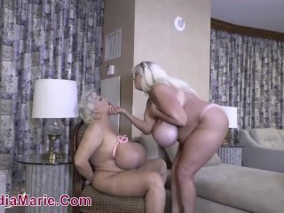 Mr. Marie Fucks Kayla Kleevage While Claudia Marie Is Tied Down