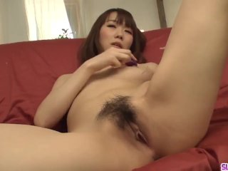 Hitomi Oki stands with the pussy just waiting for act – More at Slurpjp com
